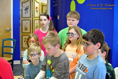 Students Watch Glassblowing Demo