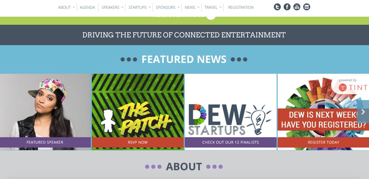 DEW Expo website