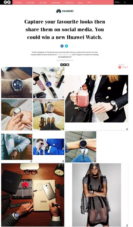 GQ Huawei Website