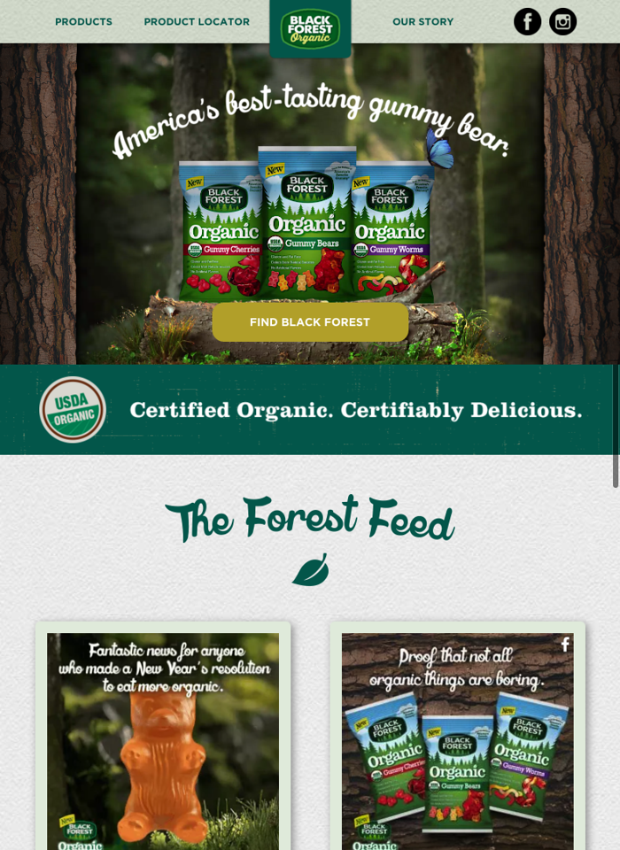 Black forest organic yummy website