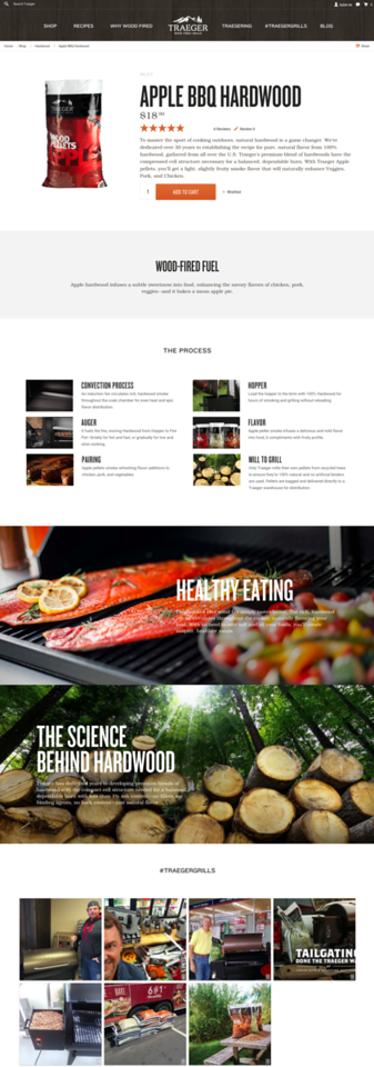 Traeger Wood Fired Grills Product Page 2