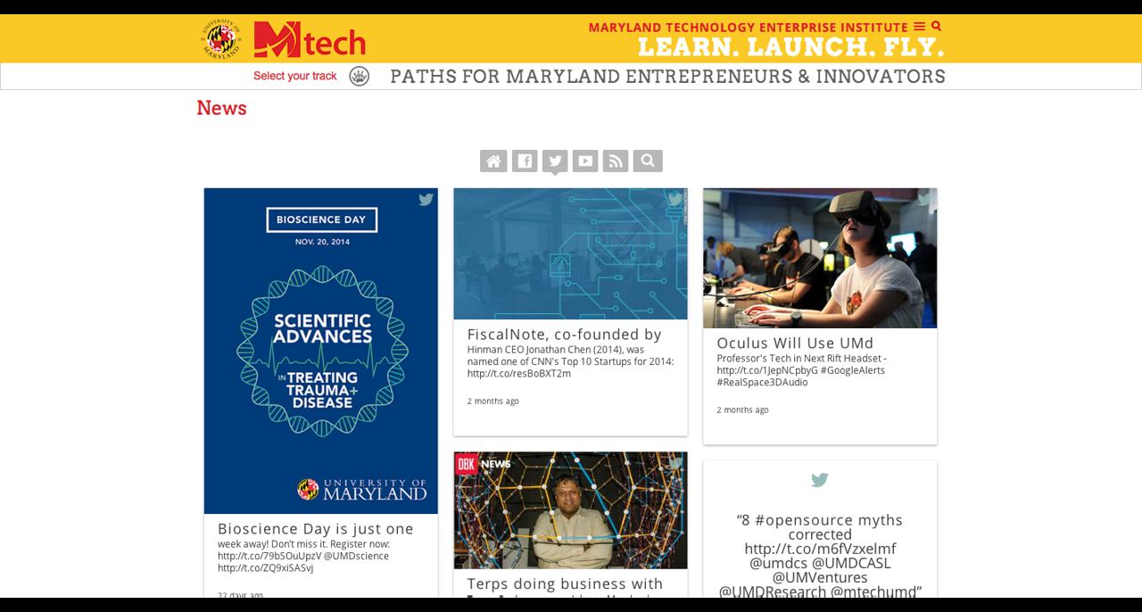 MTech UMD  www.mtech.umd.edu/index.html