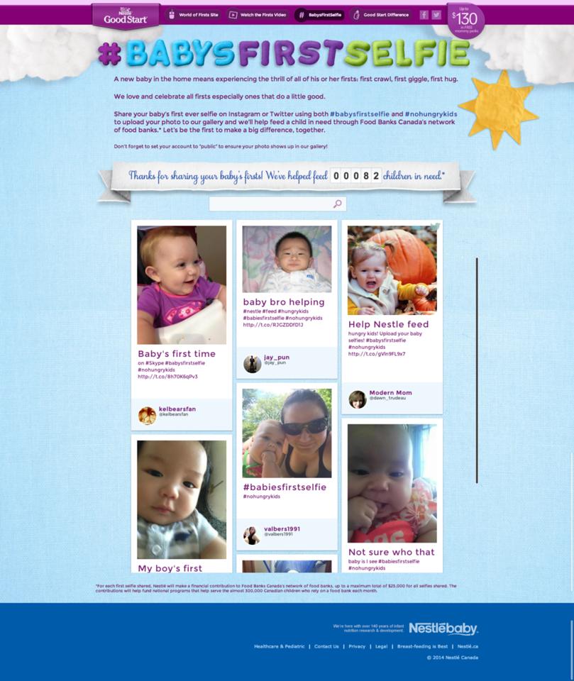 Nestlé Babys First Selfie