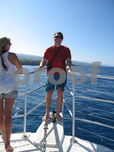 Richard on the  Honu One at Kailua Bay