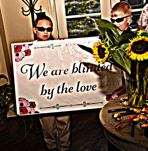 We are blinded by the love - the grandsons hold up their ends