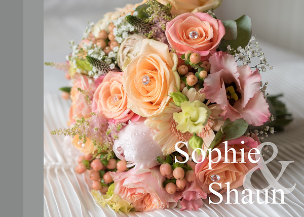 Sophie & Shaun 14 x 10 Wedding Album with Acrylic Glass Front Cover