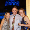 2016-08-19 Benson Hills John Wedding Reception - Kathy Frank Allie - Blue lit City Hall in back