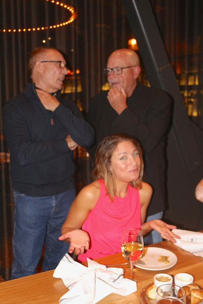 2016-08-18 Benson Hills Rehearsal Cocktail Party SF - Tate and Jim Talking and Chantel shrugging