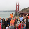 2016-08-18 Benson Hills Rehearsal Lunch Hog Island Oyster Co - Group at Golden Gate Bridge 02