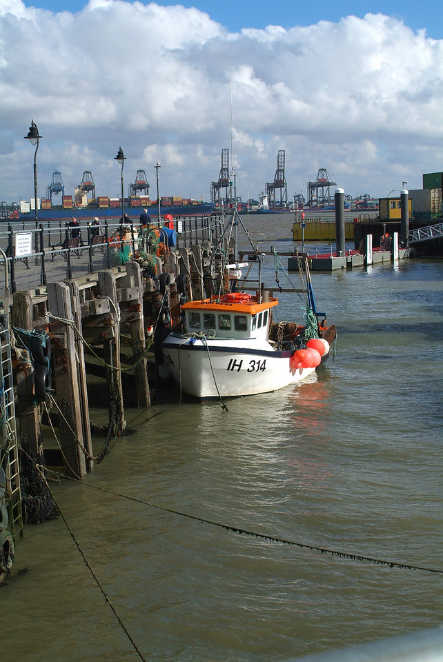 """"""" Our Bess """". Local fishing boat. Harwich."""