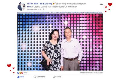 Dịch vụ in ảnh lấy liền & cho thuê photobooth tại sự kiện tiệc cưới Binh & Li | Instant Print Photobooth Vietnam at Binh & Li's wedding