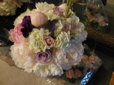 Hydrangea, peonies. lavender/pink roses $135