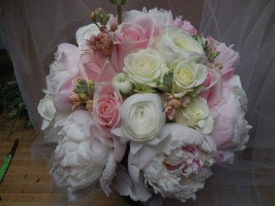 Blush rose, peonies $155