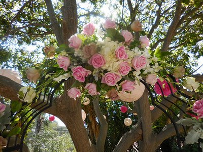 Arch centerpiece $175used later on bridal table
