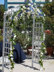 Arch  centerpiece and garlands $290