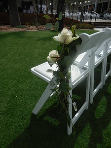Sub base Pt Loma aisle flowers $30ea