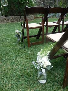 aisle flowers $35 ea