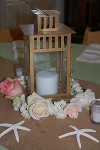 Flowers circling lantern $55