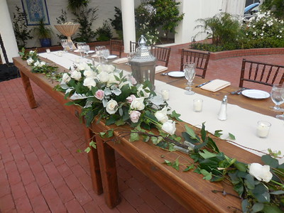 Arch flower on table - arch centerpiece and garland  move to bridal
