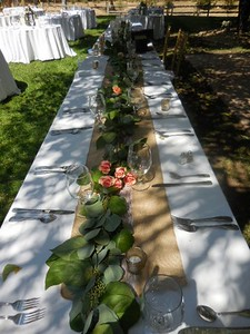 Garlands for tables  $175--8' table garlands with flower accents ( generous)