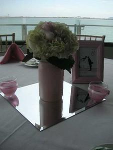 Mason Jars with hydrangea, roses $55