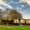 shepherd huts at a wedding venue