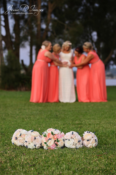 Wedding  photography - Lake Macquarie wedding - bridesmaids - fun