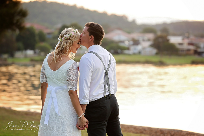 Wedding  photography - Lake Macquarie wedding - wedding photo sunset