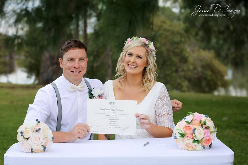 Wedding  photography - Lake Macquarie wedding - wedding ceremony - marriage certificate