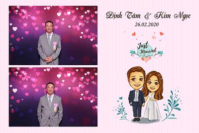 Dịch vụ in ảnh lấy liền & cho thuê photobooth tại sự kiện tiệc cưới của Định Tâm & Kim Ngọc  | Instant Print Photobooth Vietnam at Dinh Tam & Kim Ngoc's wedding