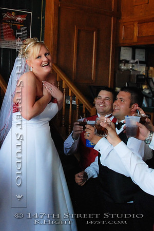 Wedding fun at Captain's in Okoboji - Spirit Lake Iowa Photographer