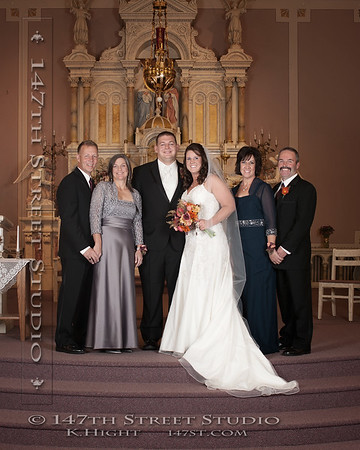 Wedding Portraits at St Joseph's Catholic Church in Milford Iowa - Spirit Lake Iowa Photographer