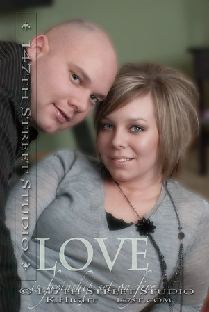 Location Engagement Session in Sioux Falls, SD in the couple's new home!