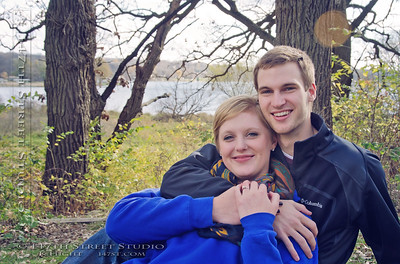 Engagement Photographs a Surprise Proposal At Eleanor Bedell State Park - Spirit Lake Iowa Photographer