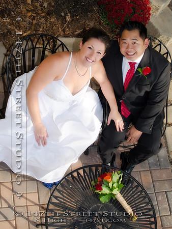 An October Wedding on the shores of Big Spirit Lake near Orleans - Spirit Lake Iowa Photographer