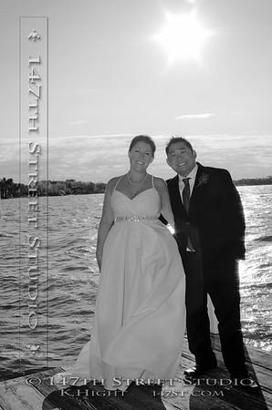 October Wedding on the shores of Big Spirit Lake near Orleans