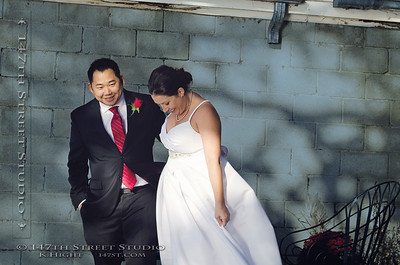 An October Wedding on the shores of Big Spirit Lake near Orleans - Spirit Lake Iowa Photographer