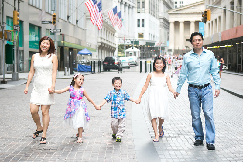 Family Children Photography of Lee Asian Family in New York Manhattan