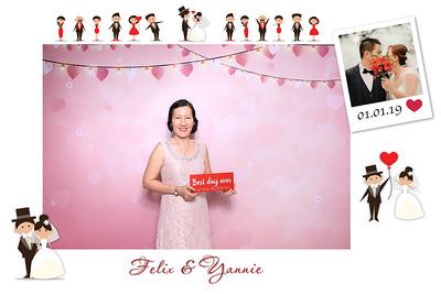 Dịch vụ in ảnh lấy liền & cho thuê photobooth tại tiệc cưới của Felix & Yannie