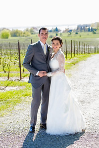 Bride and Groom at Bowers Harbor Vineyard | Rayan Anastor Photography | Michigan Wedding Photographer