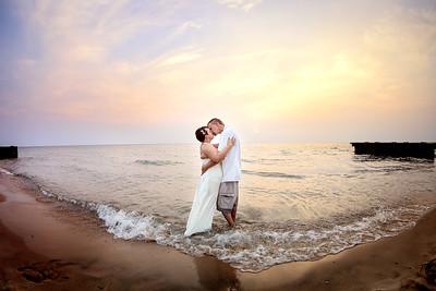 Point Betsie Sunset Wedding Bride and Groom | Rayan Anastor Photography | Point Betsie Wedding Photographer
