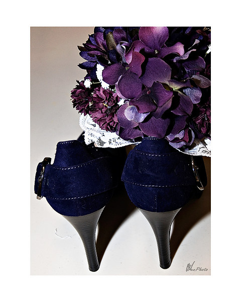 Danielle's shoes and bouquet