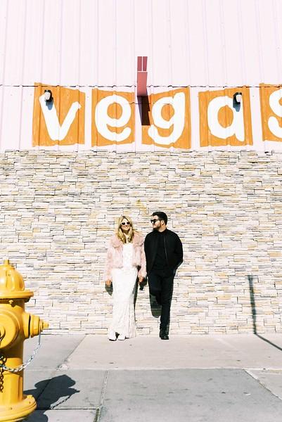 fun & colorful elopement ideas for your unique Downtown Las Vegas Elopement with Kristen Kay Photography - Las Vegas elopement photographer and Super 8 videographer   #elopement #pinkfurcoat #retro #vegas #downtown #lasvegas