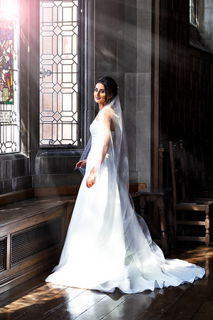 Soft Sunlight Illuminates an Exquisite Bride