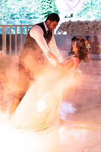 Swirling Mist Around the First Dance of Newlyweds