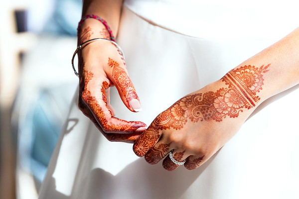 Henna Hands of the Bride
