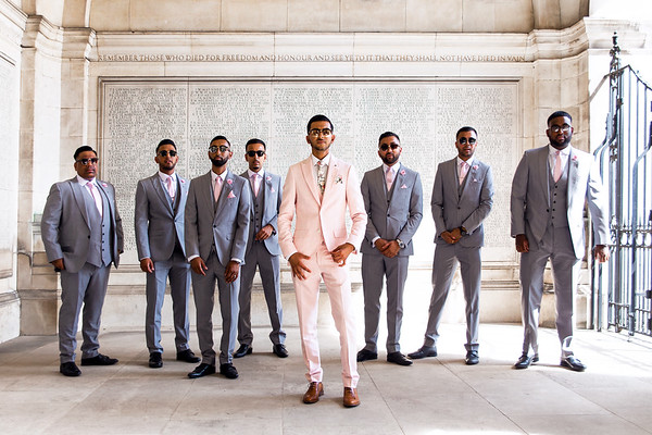 Groom and his Seven Groomsmen