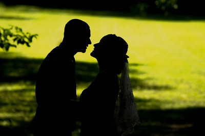 Bride and Groom Portrait in Sandy Hook, Connecticut