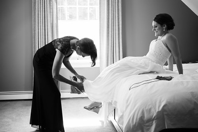 Candid Getting Ready Bride Photo in Essex, Connecticut