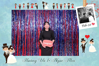 Dịch vụ in ảnh lấy liền & cho thuê photobooth tại sự kiện tiệc cưới của Hoang Vu & Ngoc Mai | Instant Print Photobooth Vietnam at Hoang Vu & Ngoc Mai's wedding